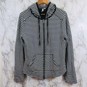 Cable & Gauge Zip Up Hooded Jacket